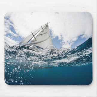 Racing Yacht At The Americas Cup Race Mouse Pad