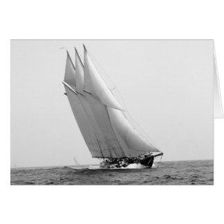 Racing Yacht Atlantic, 1904 Card