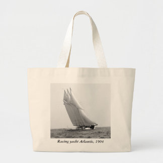 Racing Yacht Atlantic, 1904 Large Tote Bag