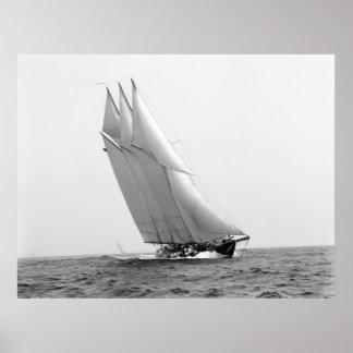 Racing Yacht Atlantic: 1904 Poster
