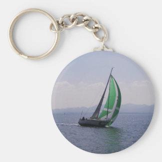 Racing yacht. key chain