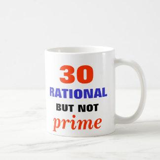 Racional pero no primero taza de café