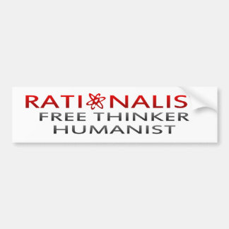 Racionalista del BMP, pensador libre, humanista Pegatina De Parachoque