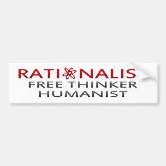 Racionalista del BMP, pensador libre, humanista Pegatina Para Auto