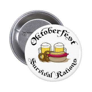 Raciones de la supervivencia de Oktoberfest Pin Redondo De 2 Pulgadas