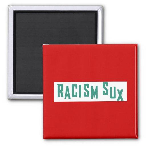Racismo Sux Imán Cuadrado
