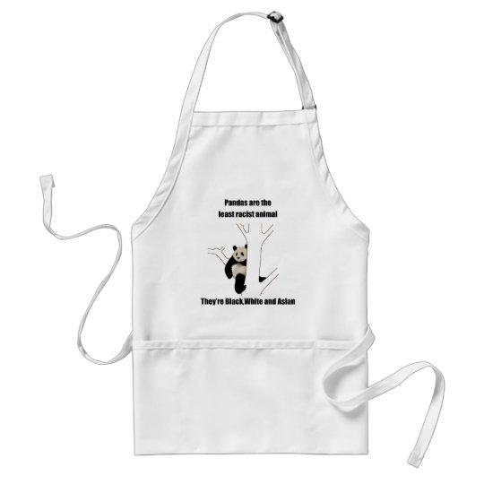 Racist panda adult apron