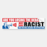 Racista del grito etiqueta de parachoque