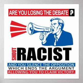 Racista del grito poster