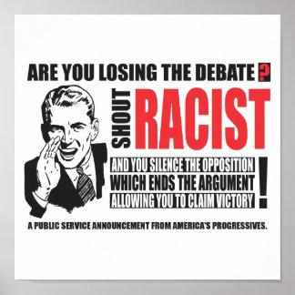 Racista del grito póster