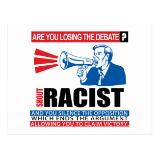 Racista del grito tarjetas postales