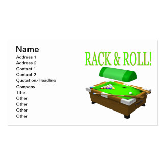 Rack And Roll Double-Sided Standard Business Cards (Pack Of 100)