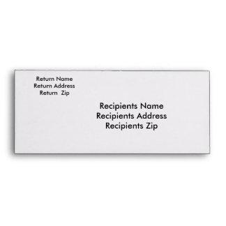 Rack Card Addressed Envelope