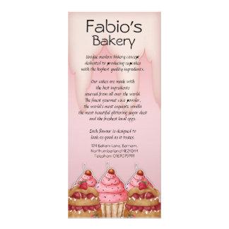Rack Card Bakery Busniess, Caterer, Coffee Shop