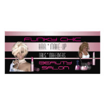 Rack Card Black Pink Hair Beauty Salon