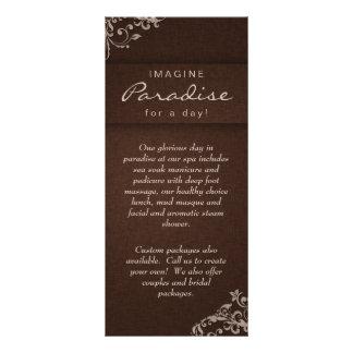 Rack Card Floral Linen Salon Spa Beige Brown