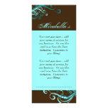 Rack Card Swirl Salon Spa Blue Brown
