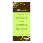 Rack Card Swirl Salon Spa Lime Green Brown