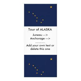 Rack Card with Flag of Alaska, U.S.A.