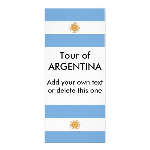 Rack Card with Flag of Argentina