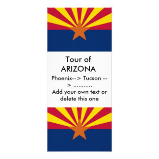 Rack Card with Flag of Arizona, U.S.A.