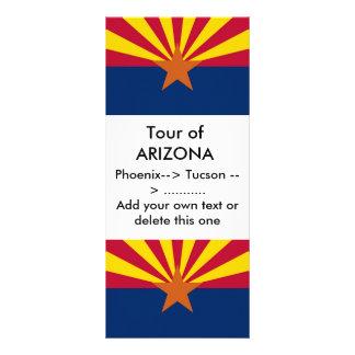 Rack Card with Flag of Arizona, U.S.A.