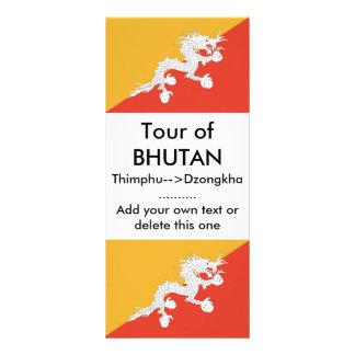 Rack Card with Flag of Bhutan