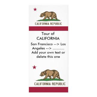 Rack Card with Flag of California, U.S.A.