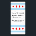 """Rack Card with Flag of Chicago, Illinois, U.S.A.<br><div class=""""desc"""">Rack card with Flag of Chicago,  Illinois,  United States of America. This product its customizable.</div>"""