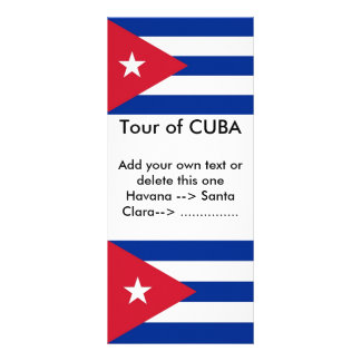 Rack Card with Flag of Cuba