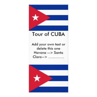 Rack Card with Flag of Cuba