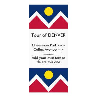 Rack Card with Flag of Denver, Colorado, U.S.A.