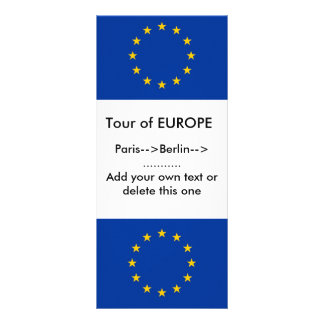 Rack Card with Flag of Europe