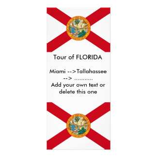 Rack Card with Flag of Florida, U.S.A.