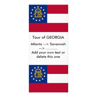 Rack Card with Flag of Georgia, U.S.A.