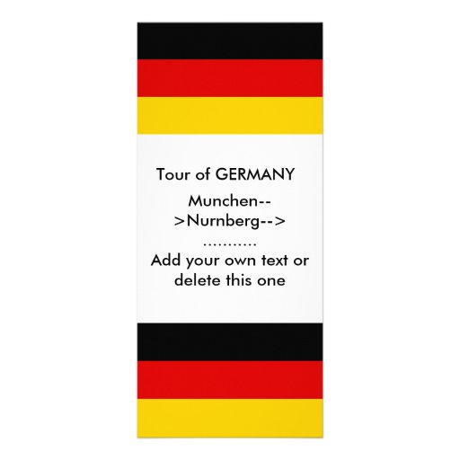 Rack Card with Flag of Germany