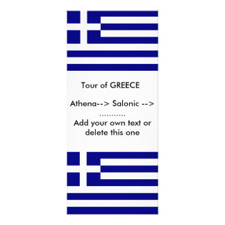 Rack Card with Flag of Greece