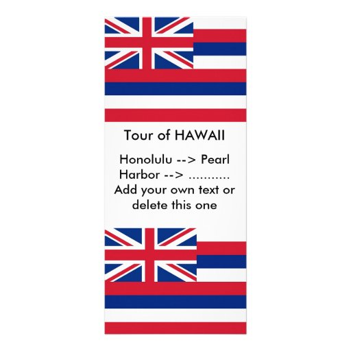 Rack Card with Flag of Hawaii, U.S.A.
