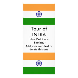Rack Card with Flag of India