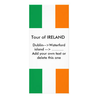 Rack Card with Flag of Ireland