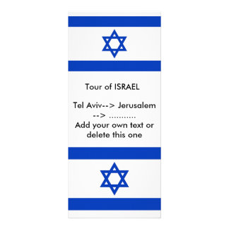Rack Card with Flag of Israel