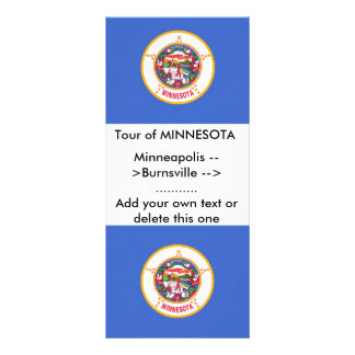 Rack Card with Flag of Minnesota, U.S.A.