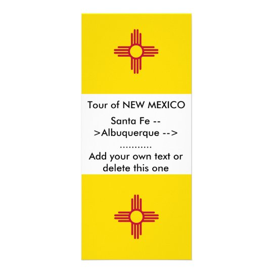Rack Card with Flag of New Mexico, U.S.A.