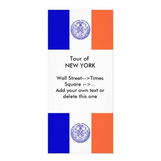 Rack Card with Flag of New York, U.S.A.