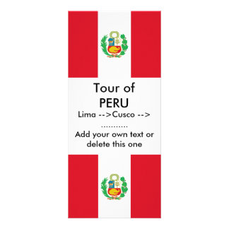 Rack Card with Flag of Peru