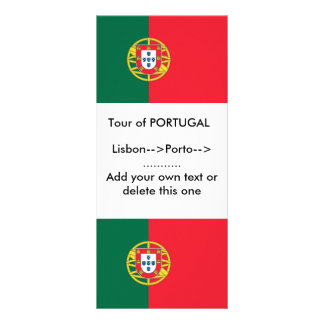 Rack Card with Flag of Portugal