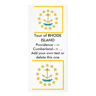 Rack Card with Flag of Rhode Island, U.S.A.