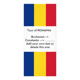 Rack Card with Flag of Romania