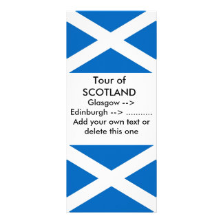 Rack Card with Flag of Scotland
