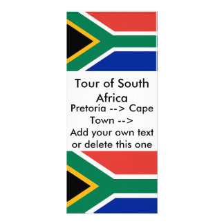 Rack Card with Flag of South Africa